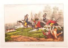 Two Unframed Currier  Ives Lithographs