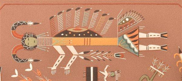 Navajo Ceremonial Yei Dancer Sand Painting. - 2