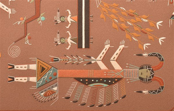 Navajo Ceremonial Yei Dancer Sand Painting. - 3