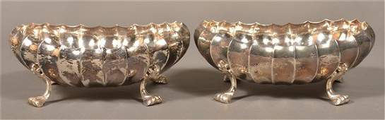 Pair of Buccellati Italy Sterling Footed Bowls