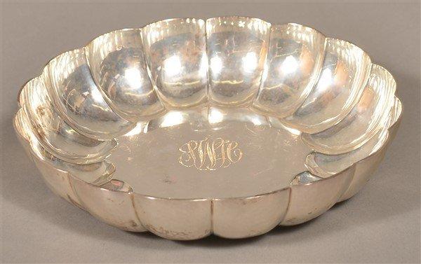 London, England Sterling Scalloped Edge Bowl.