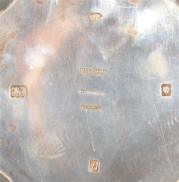 London, England Sterling Scalloped Edge Bowl. - 3