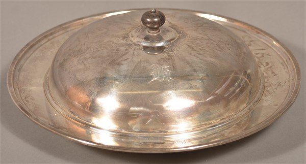 Redlich & Co. New York Sterling Pancake Dish.