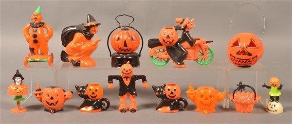 Group of Plastic Halloween Items.