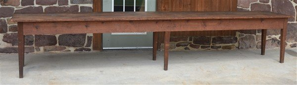 PA Early 19th Century Softwood Harvest Table.