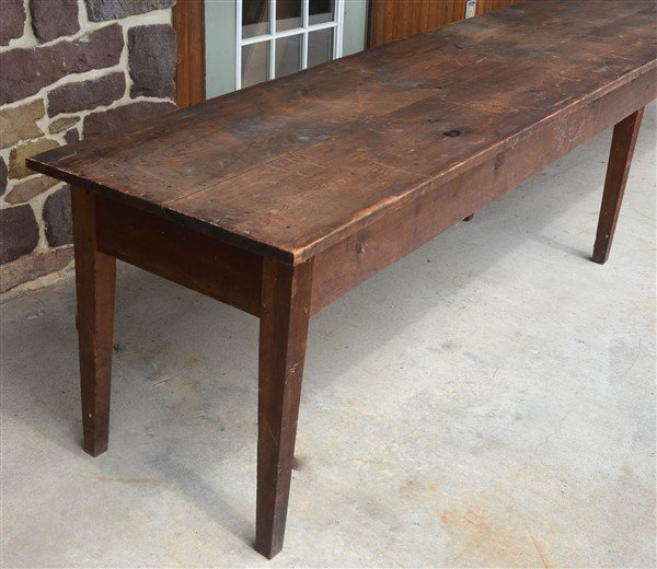 PA Early 19th Century Softwood Harvest Table. - 2