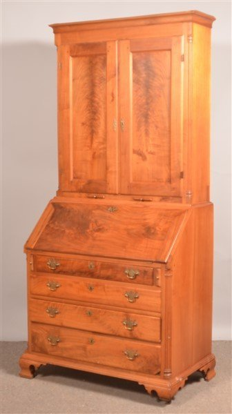 PA Chippendale Walnut Slat-lid Secretary Desk. - 3