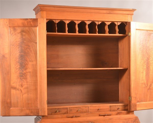 PA Chippendale Walnut Slat-lid Secretary Desk. - 5