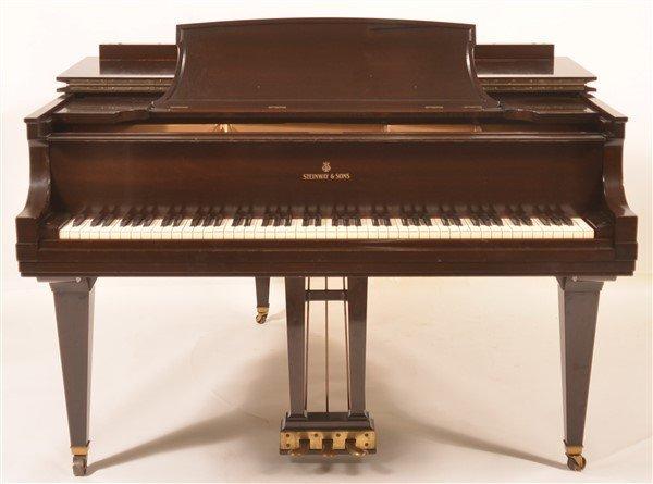 Steinway Mahogany Baby Grand Piano, C. 1931. - 2