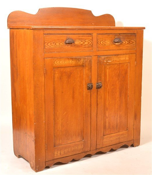 PA Grain Decorated Softwood Jelly Cupboard.