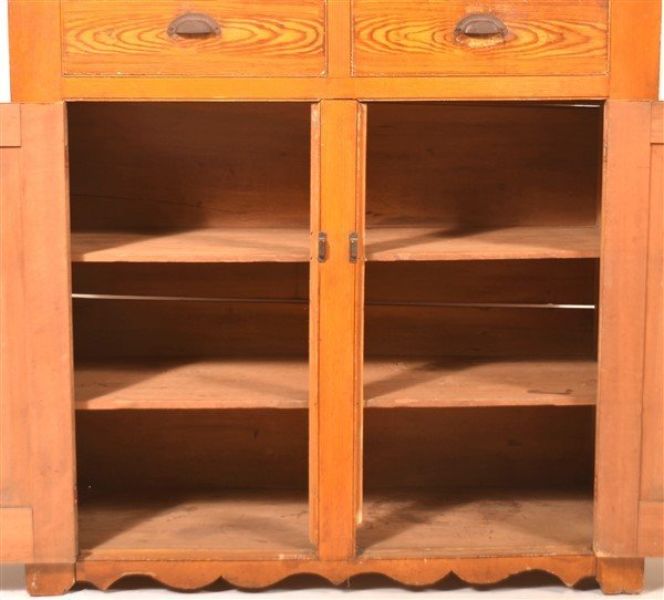 PA Grain Decorated Softwood Jelly Cupboard. - 2