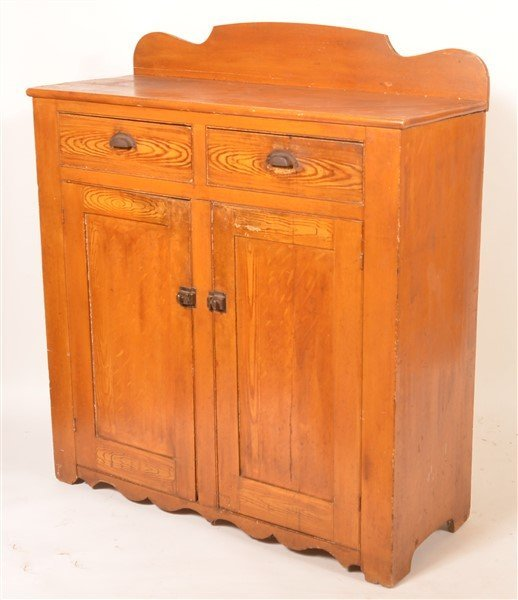 PA Grain Decorated Softwood Jelly Cupboard. - 3