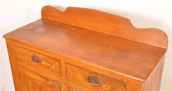 PA Grain Decorated Softwood Jelly Cupboard. - 4