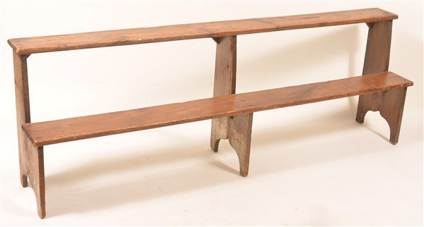 Antique Softwood Two Tier Bucket Bench.