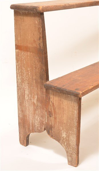 Antique Softwood Two Tier Bucket Bench. - 2