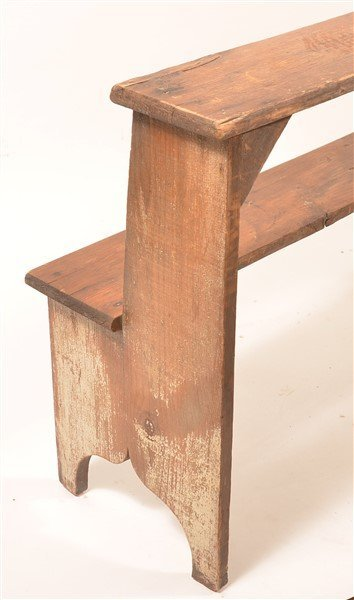 Antique Softwood Two Tier Bucket Bench. - 3
