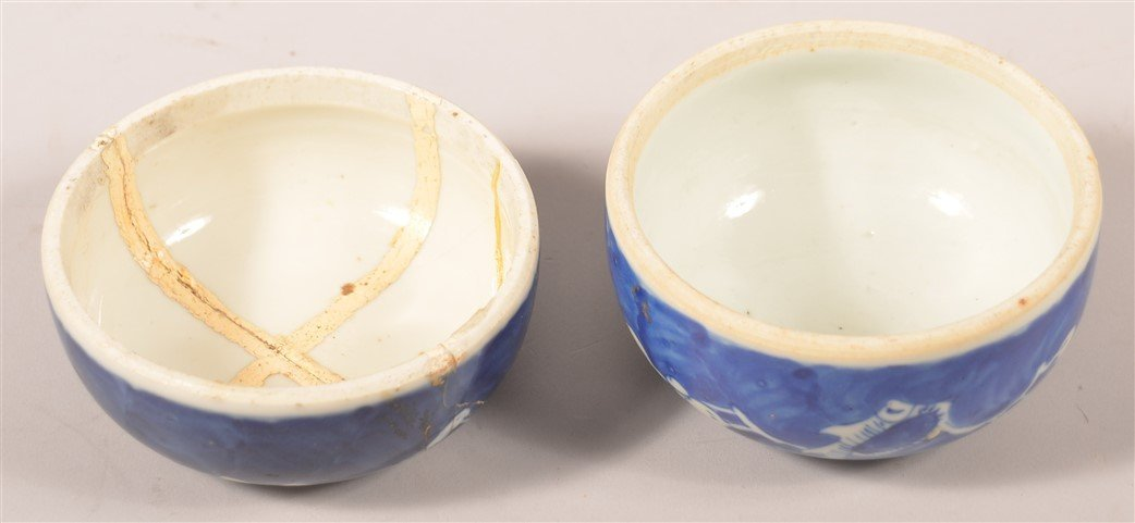 Pair of Blue & White Oriental Porcelain Cov. Jars. - 4