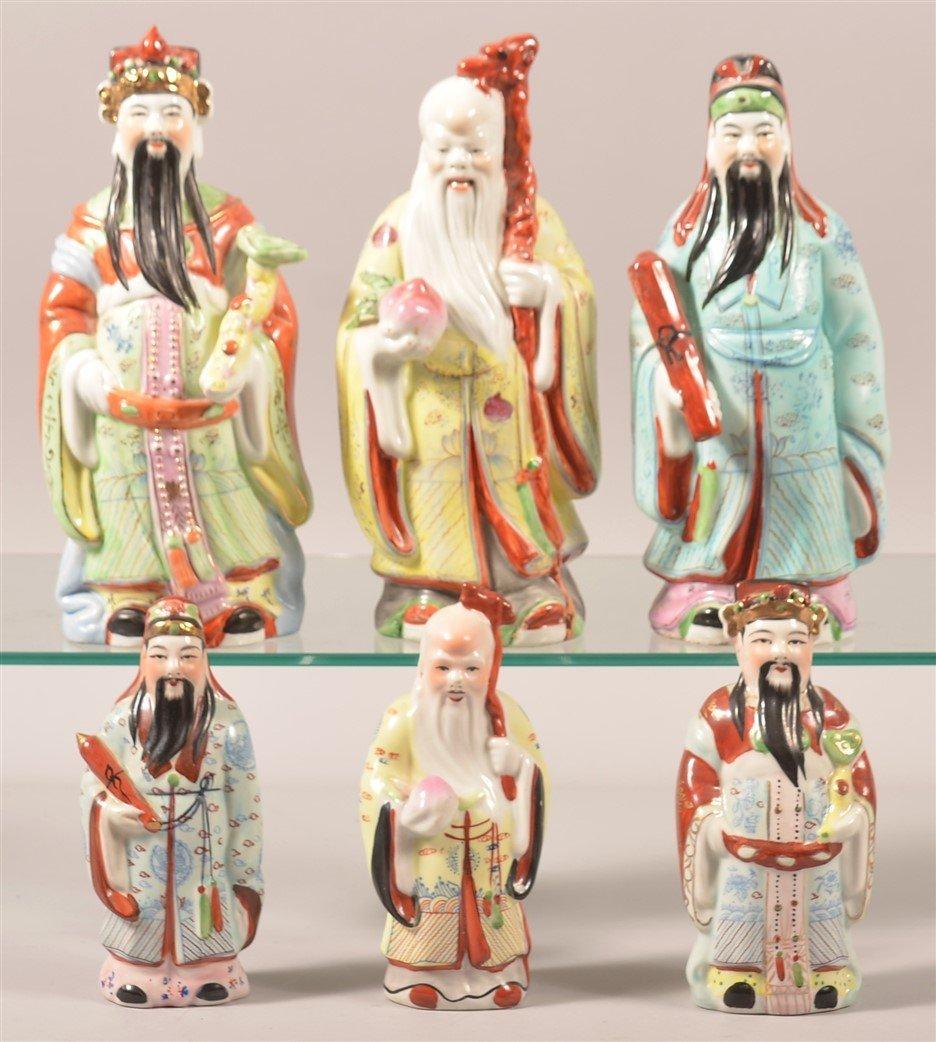 Six Oriental Porcelain Elder Figurines.