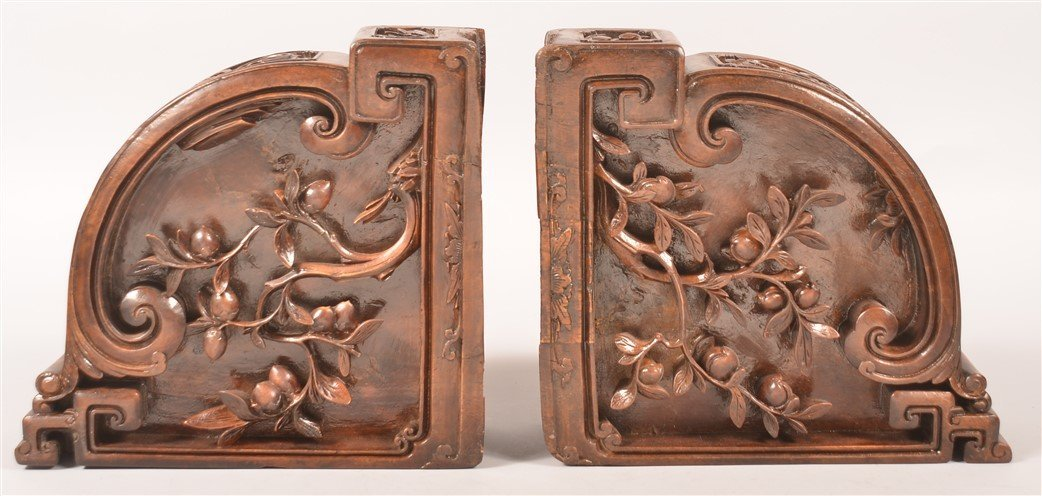 2 Ornately Carved Architectural Corner Elements. - 3