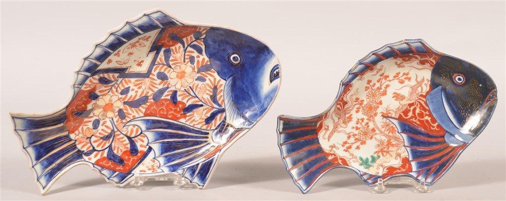 Two Imari Oriental porcelain Fish Form Trays.