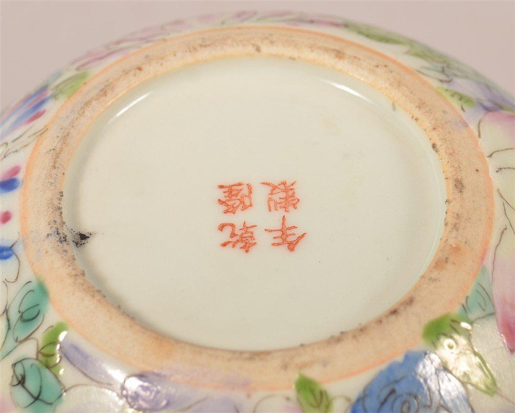 Famille Rose Oriental Porcelain Rose Bowl. - 4