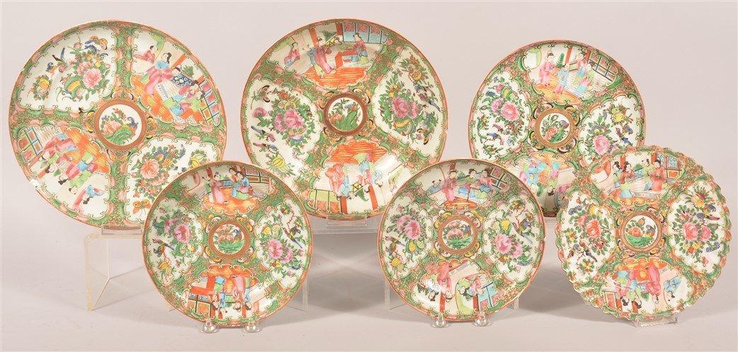 25 pieces of Rose Medallion Oriental Porcelain. - 2