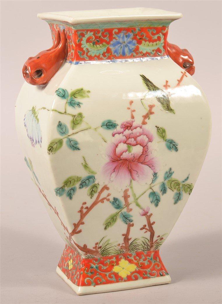 Vintage Chinese Famille Rose Porcelain Vase.