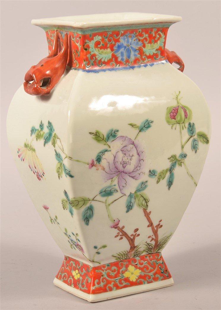 Vintage Chinese Famille Rose Porcelain Vase. - 2