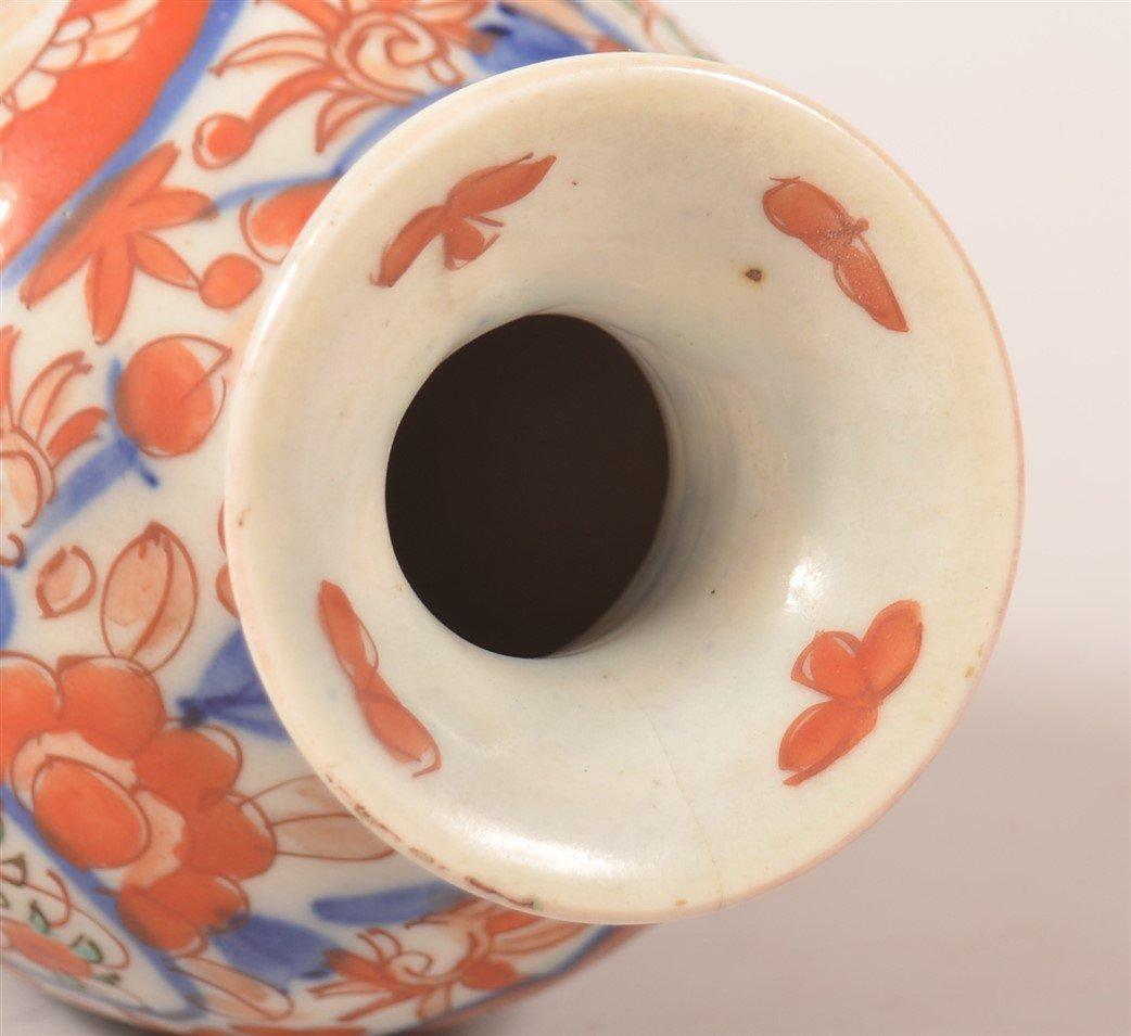 Pair of Vintage Imari Oriental Porcelain Vases. - 4