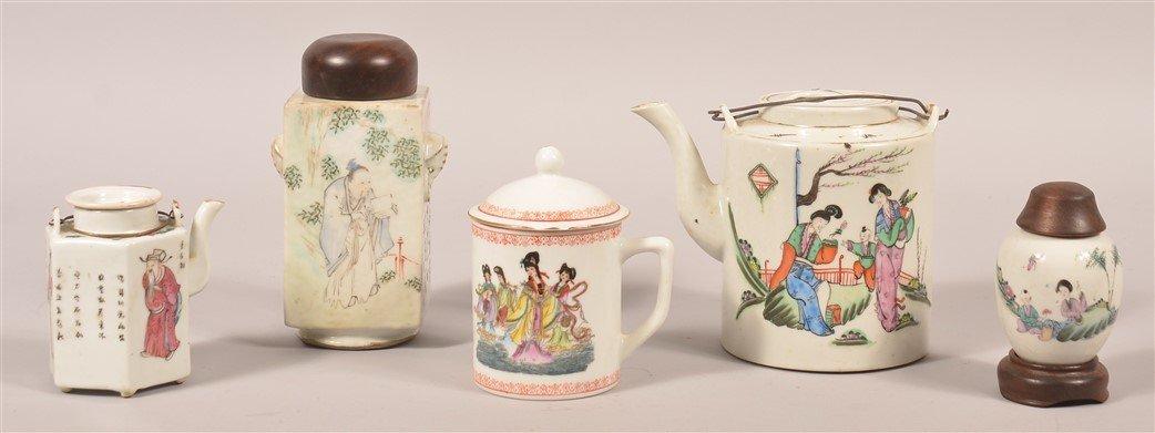 5 Pcs. of Vintage and Modern Oriental Porcelain.