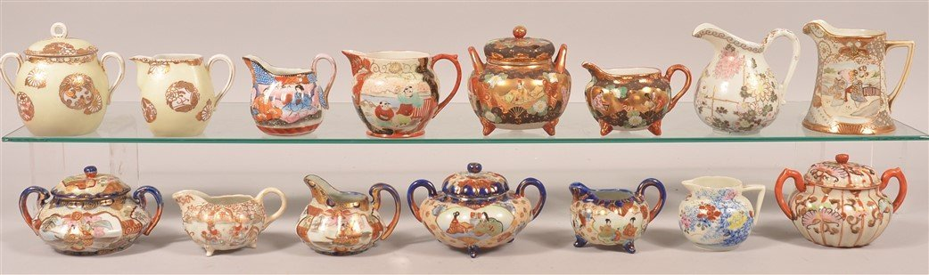 15 Japanese Cream Pitchers and Sugar Bowls.