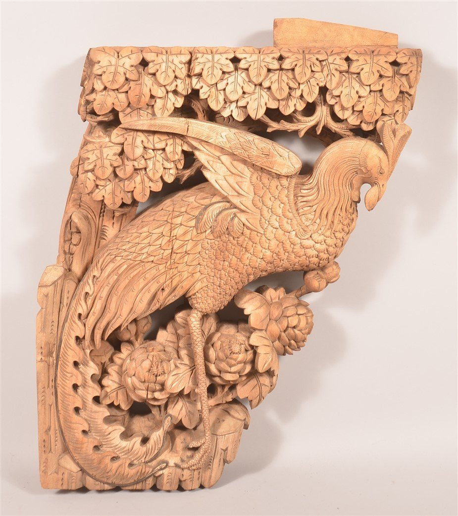 Chinese Carved Wood Architectural Element.