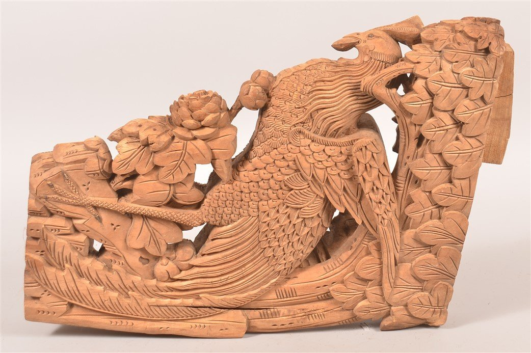Chinese Carved Wood Architectural Element. - 2