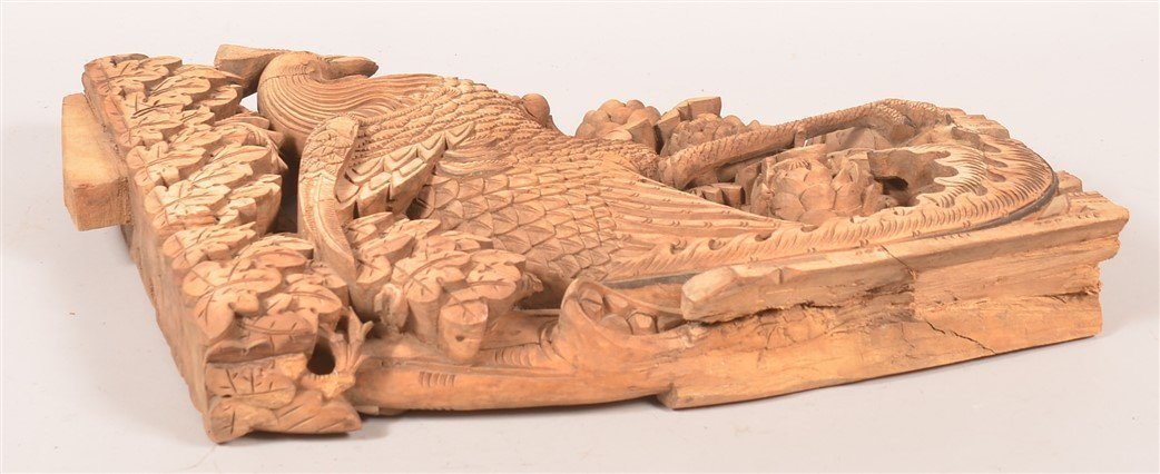 Chinese Carved Wood Architectural Element. - 3