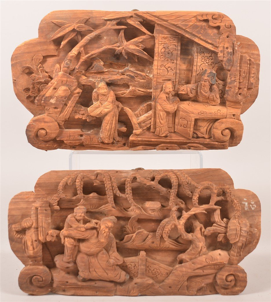 Pair of Chinese Carved Architectural Elements.