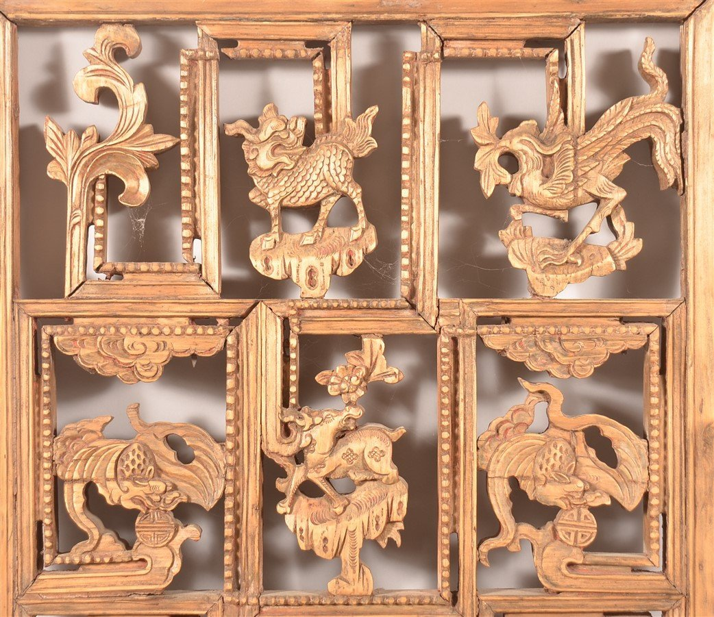 Antique Chinese Pierce Carved Wood Panel. - 3