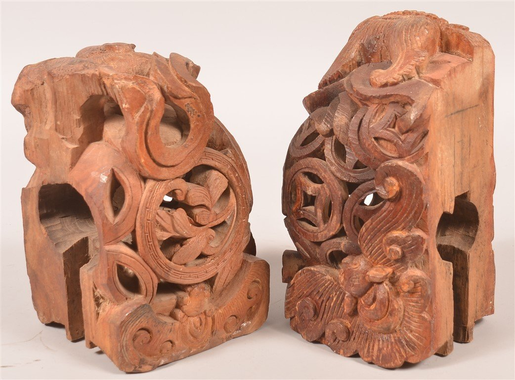 Pair of Chinese Foo Dog Architectural Finials. - 2