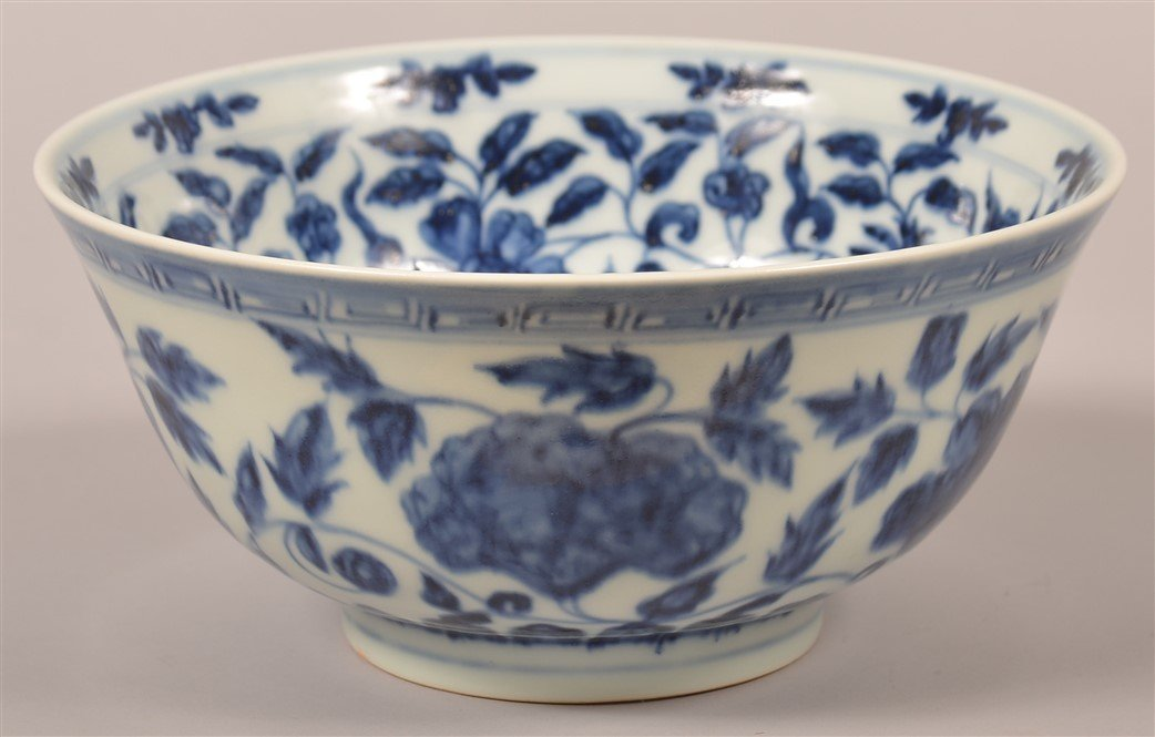 Chinese Blue and White Porcelain Bowl. - 5