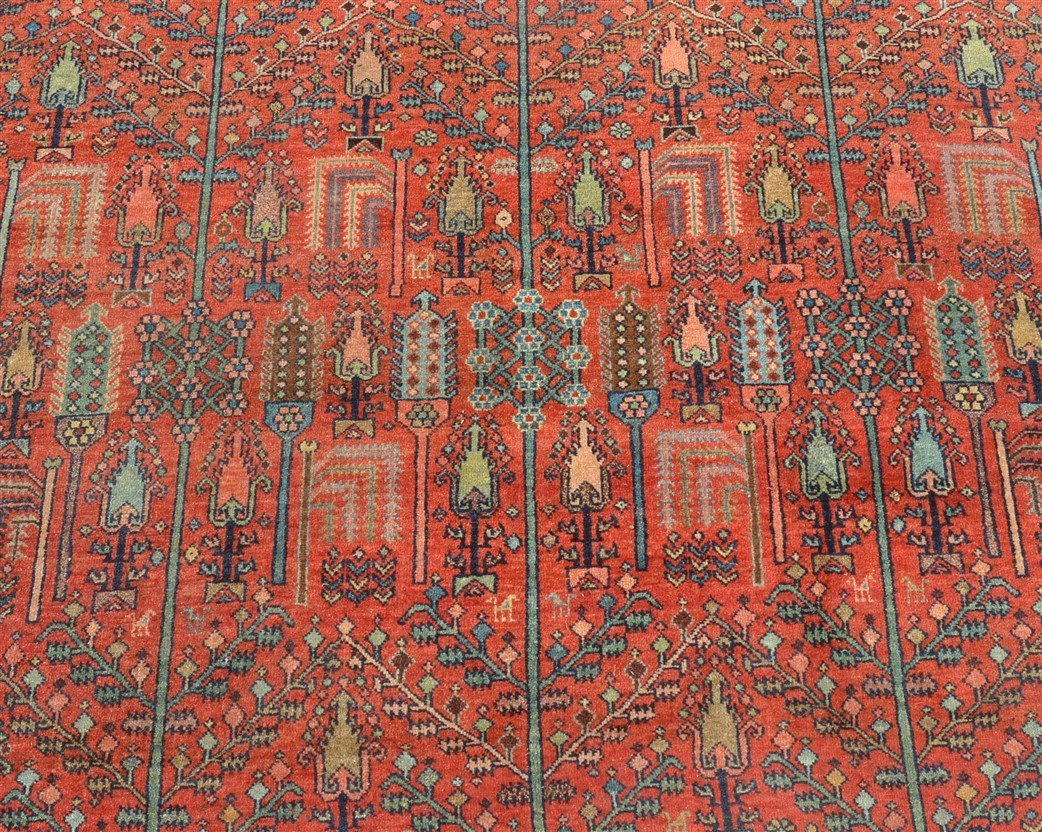 Antique Floral Pattern Room Size Oriental Rug. - 2