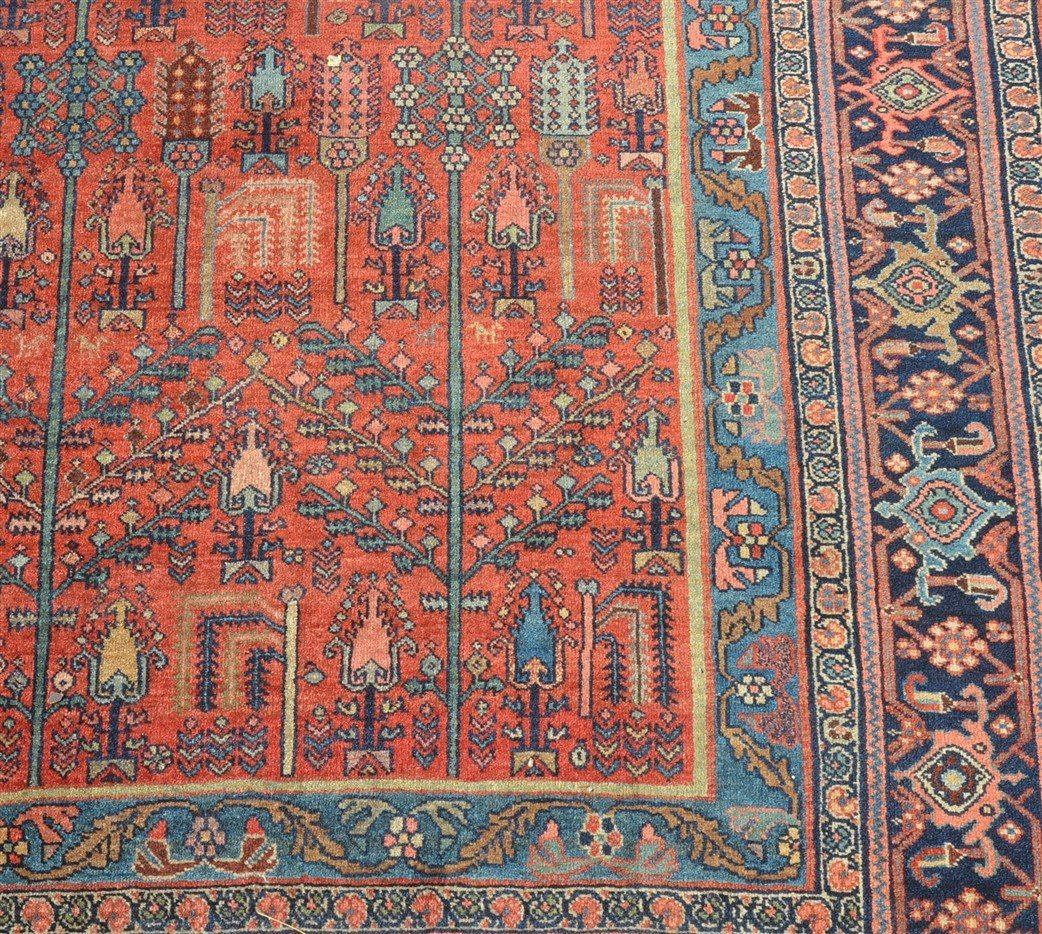 Antique Floral Pattern Room Size Oriental Rug. - 3