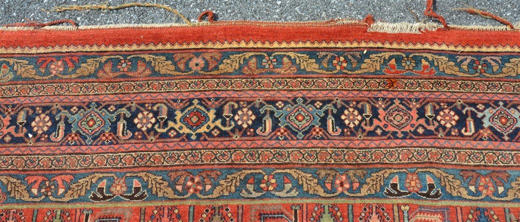 Antique Floral Pattern Room Size Oriental Rug. - 5