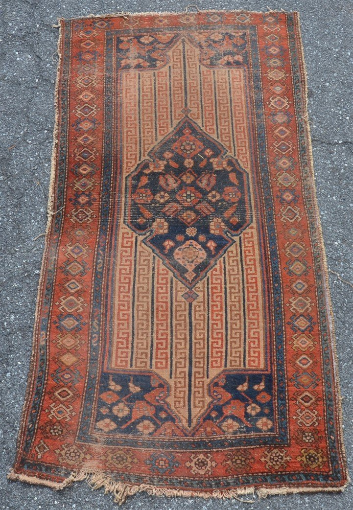 Antique Center Medallion Oriental Area Rug.