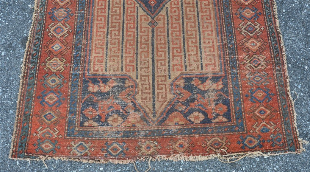 Antique Center Medallion Oriental Area Rug. - 5