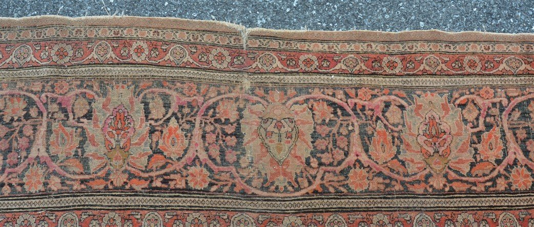 Antique Center Medallion Oriental Room Size Rug. - 5