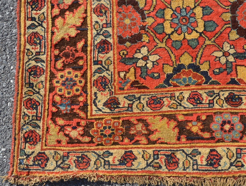 Antique Floral Pattern Oriental Area Rug. - 3