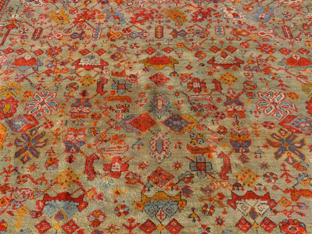 Antique Floral Pattern Oriental Room Size Rug. - 2