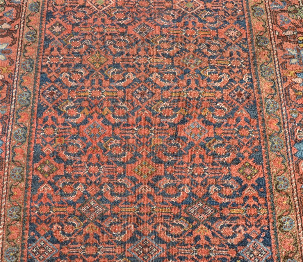 Antique Floral Pattern Oriental Area Rug. - 2