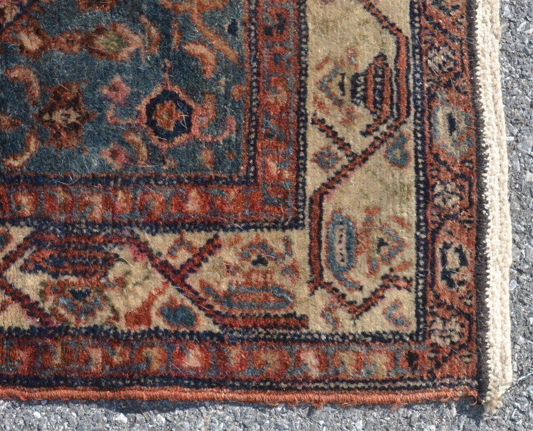 Antique Center Medallion Oriental Area Rug. - 3