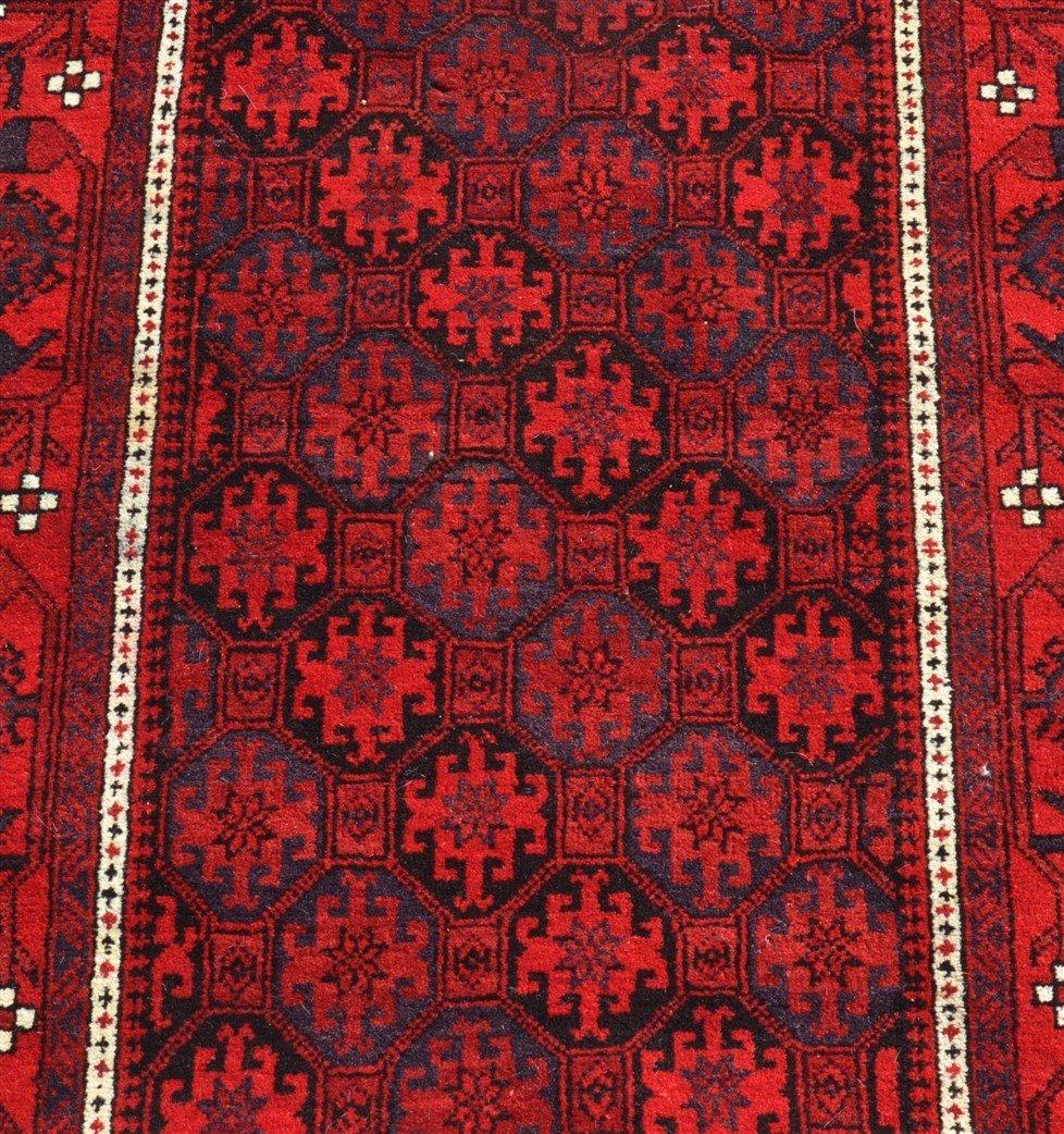 Vintage Geometric Pattern Oriental Area Rug. - 2
