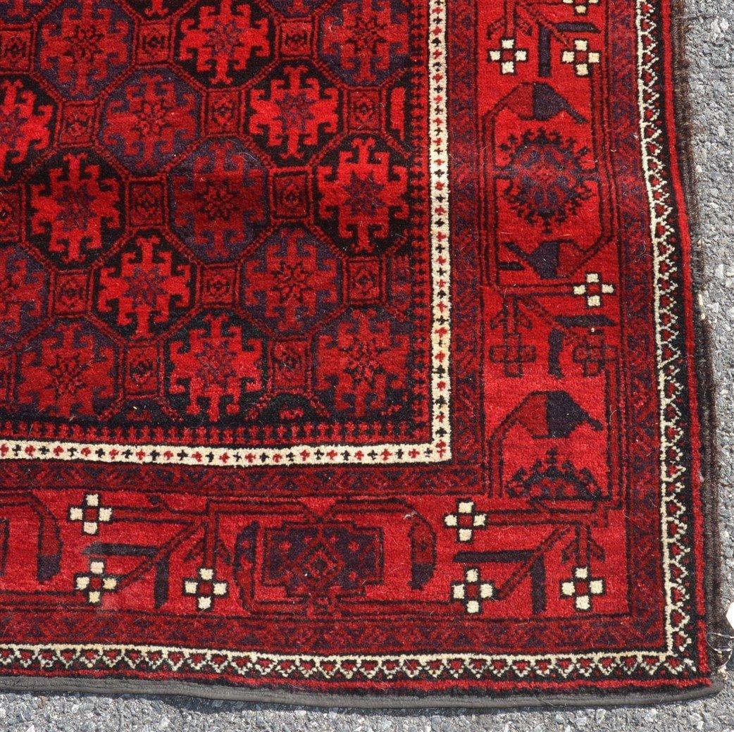 Vintage Geometric Pattern Oriental Area Rug. - 3